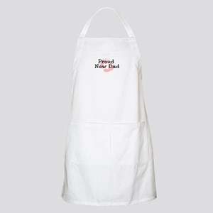 Proud New Dad GIRL BBQ Apron