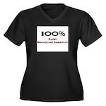 100 Percent Radio Broadcast Assistant Women's Plus