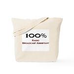 100 Percent Radio Broadcast Assistant Tote Bag