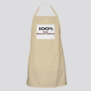 100 Percent Radio Broadcast Assistant BBQ Apron