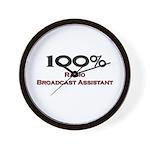 100 Percent Radio Broadcast Assistant Wall Clock