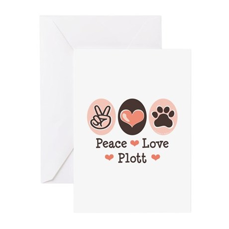 Peace Love Plott Greeting Cards (Pk of 10)
