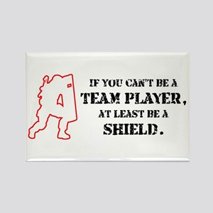 Team Player Rectangle Magnet