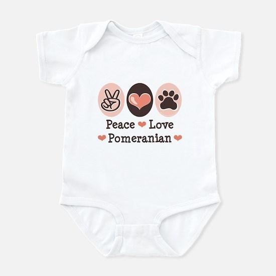 Peace Love Pomeranian Infant Bodysuit