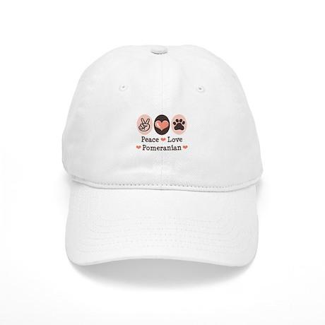 Peace Love Pomeranian Cap