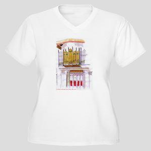 St Michael's Organ Women's Plus Size V-Neck T-Shir