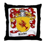 Krebs Family Crest Throw Pillow