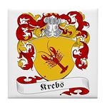 Krebs Family Crest Tile Coaster