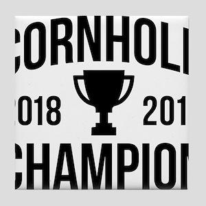 Cornhole Champion Tile Coaster