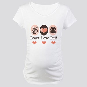 Peace Love Puli Maternity T-Shirt