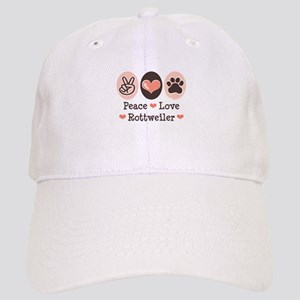 Peace Love Rottweiler Cap