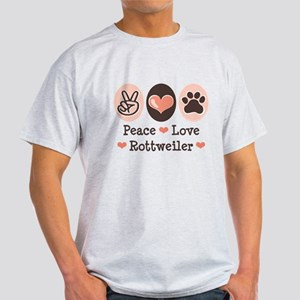 Peace Love Rottweiler Light T-Shirt