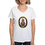 USS McCLUSKY Women's V-Neck T-Shirt
