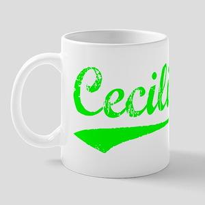 Vintage Cecilia (Green) Mug