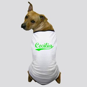 Vintage Cecilia (Green) Dog T-Shirt
