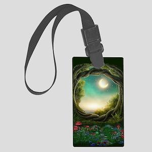 Enchanted Moon Tree Large Luggage Tag