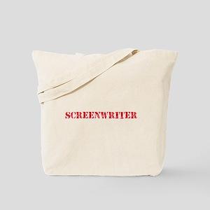 Screenwriter Red Stencil Design Tote Bag