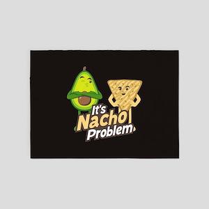 Emoji Avocado Nacho Problem 5'x7'Area Rug