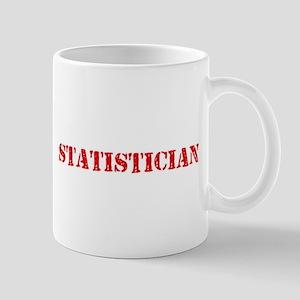 Statistician Red Stencil Design Mugs