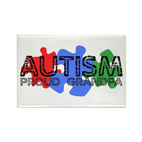 Autism - Proud Grandpa Rectangle Magnet