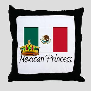 Mexican Princess Throw Pillow