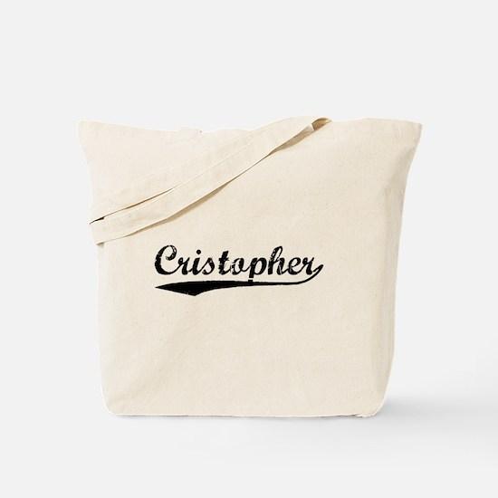 Vintage Cristopher (Black) Tote Bag