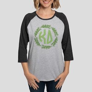 Kappa Delta Wreath Womens Baseball Tee