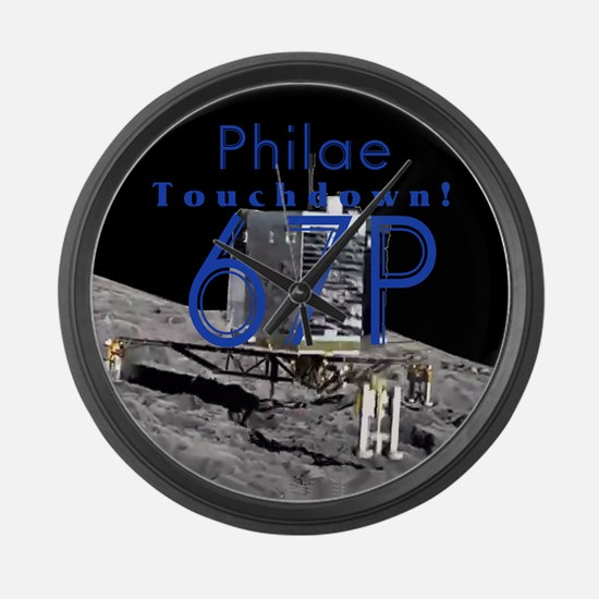 Philae Has Landed! Large Wall Clock