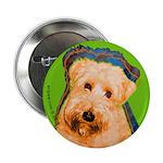Wheaten Terrier Button