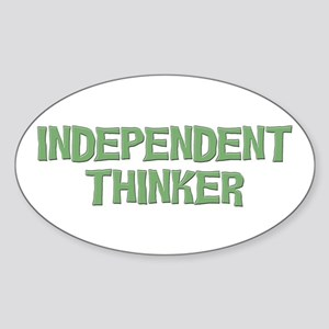 Independent Oval Sticker