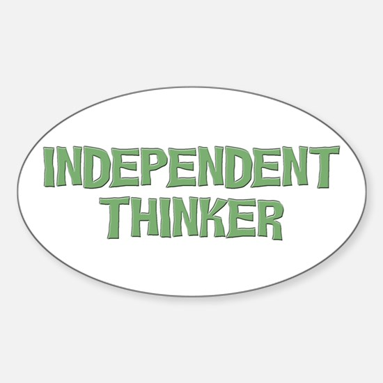 Independent Oval Decal