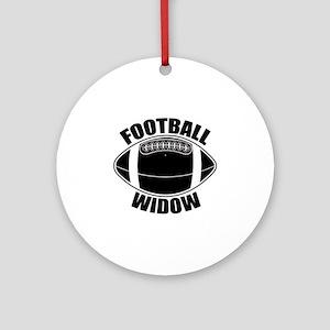 Football Widow Ornament (Round)
