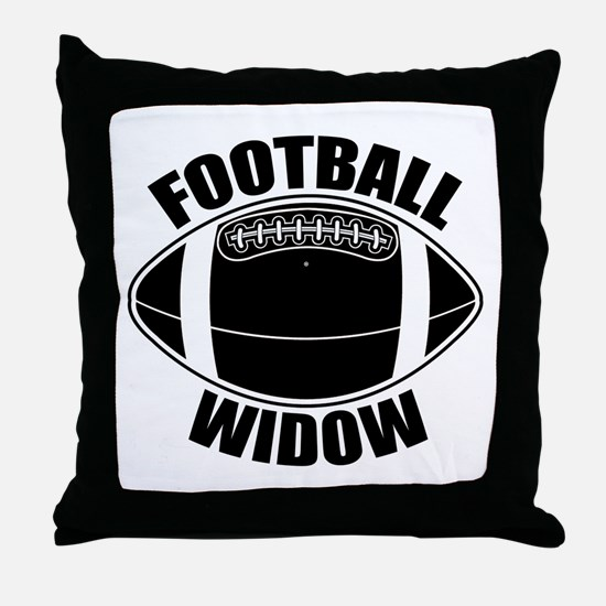Football Widow Throw Pillow