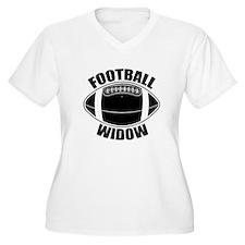 Football Widow Women's Plus Size V-Neck T-Shirt