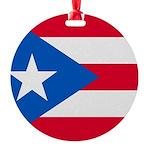 Bandera De Puerto Rico Adorno Round Ornament