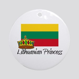 Lithuanian Princess Ornament (Round)