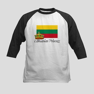 Lithuanian Princess Kids Baseball Jersey