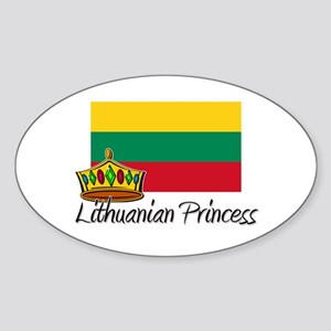 Lithuanian Princess Oval Sticker
