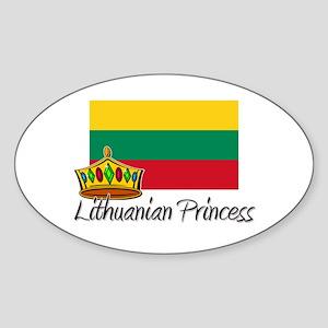 Lithuanian Princess Oval Sticker