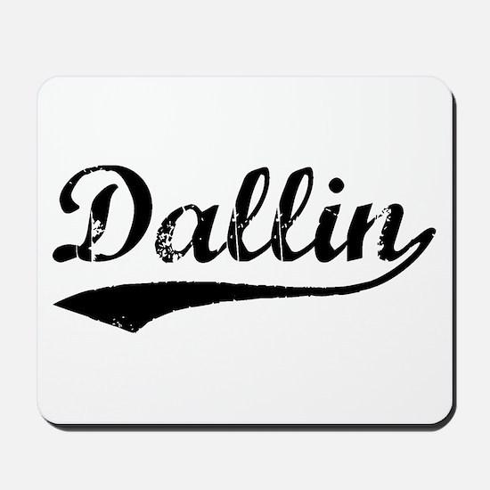 Vintage Dallin (Black) Mousepad