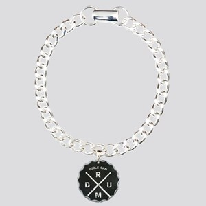Girls Can Drum Charm Bracelet, One Charm