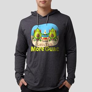 Emoji Avocado Less Talk More Gua Mens Hooded Shirt