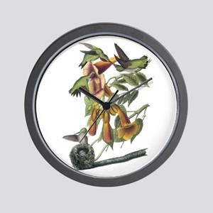 Ruby-throated Hummingbird Wall Clock