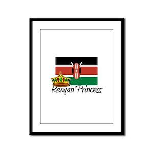 Kenyan Princess Framed Panel Print