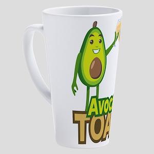 Emoji Avocado Toast 17 oz Latte Mug