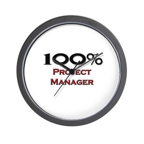 100 Percent Project Manager Wall Clock
