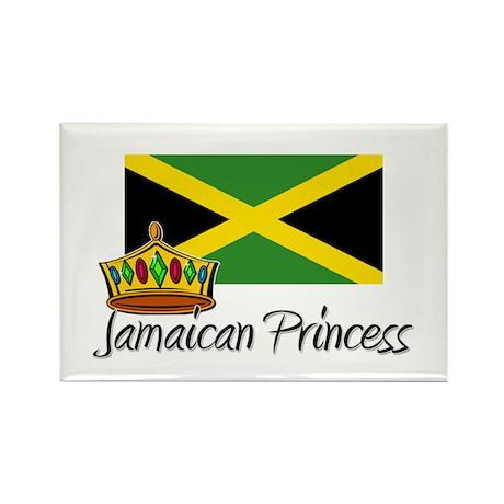 Jamaican Princess Rectangle Magnet