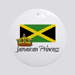 Jamaican Princess Ornament (Round)