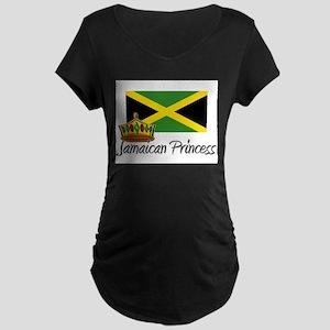 Jamaican Princess Maternity Dark T-Shirt