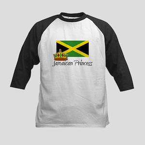 Jamaican Princess Kids Baseball Jersey